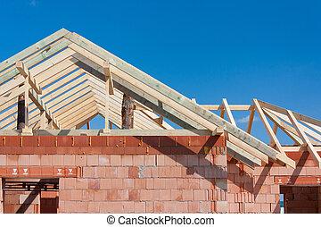 huizenbouw, -, dak