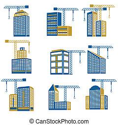 huizenbouw, iconen