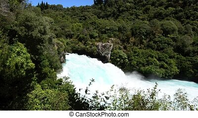 Huka Waterfalls - Huka Falls - Waterfall near Taupo, New...
