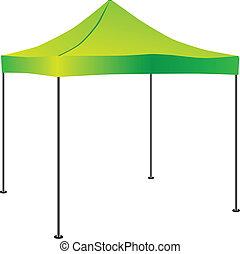 hukiem-do góry, handlowy, namiot