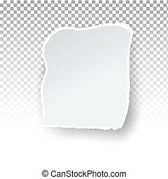 hul, lagen, avis, væv, holes., baggrund, print., riv, transparent