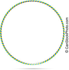 Hula hoop - Vector hula hoop illustration isolated against a...