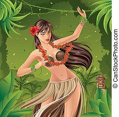 hula tanečník