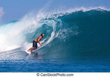 hullámtörés, area.indonesia., szörfözás, wave.gland