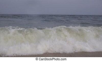hullámtörés, indítvány, óriási, lassú, törő, óceán, hajtott,...