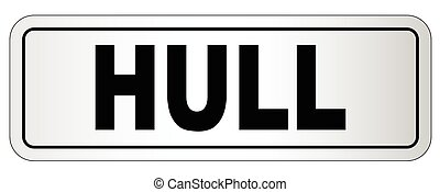 Hull City Nameplate - The city of Hull nameplate on a white...
