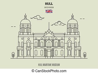 Hull Maritime Museum in Kingston upon Hull, UK. Landmark...