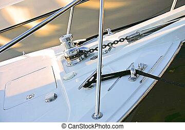 hull - the hull of a sailboat