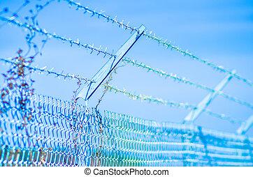 hulling telegrafera, staket