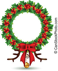 hulst, frame, kerstmis, beauty