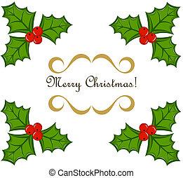 hulst, frame, kerstmis