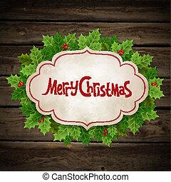 hulst, kerstmis