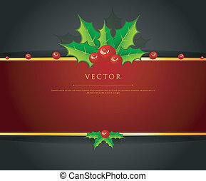 hulst, kerstmis, tak, back