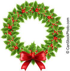 hulst, krans, kerstmis