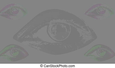 """humain, cinq, eyes"""", """"animation, multicolore"""
