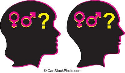 humain, genre, -, sexualité