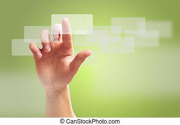 humain, geste, main