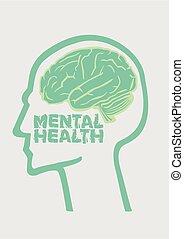 humain, graphique, mental, ou, conception, health., cerveau, concept., psychologie, healthcare