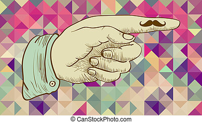 humain, main., hipsters, retro