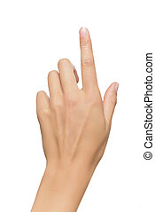 humain, point, main, doigt