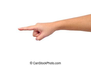 humain, pointage, main