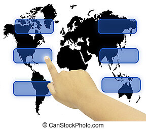 humain, urgent, main, touchscreen