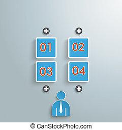 Human 4 Options Quadrates Infographic PiAd
