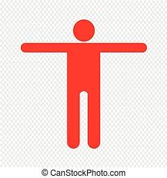 Human Action Poses Icon Illustration design