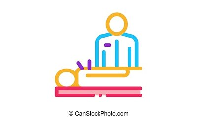 human acupuncture and doctor Icon Animation