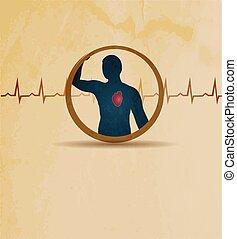 human and cardiogram