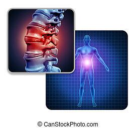 Human Back Joint Pain - Human back joint pain concept as...