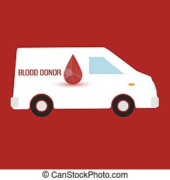 human blood donor fast transportation healthcare eps10