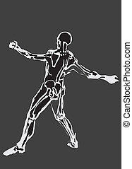Human body made in eps Articulation