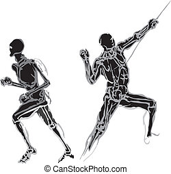 Human body made in eps Articulation - Articulation of a...