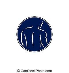 human body silhouette man decoration vector