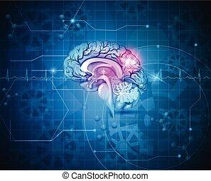 Human brain abstract background - Human brain abstract light...