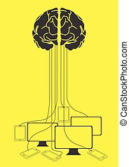 Human brain and Computers