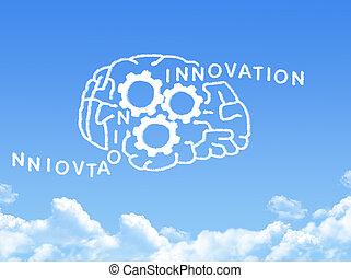 human brain concept cloud shape