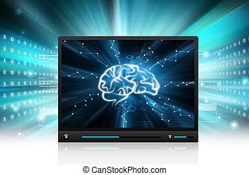 Human brain display
