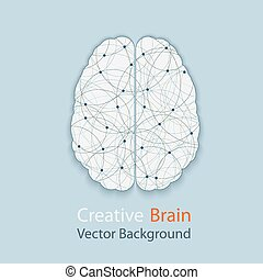 human brain - Creative brain vector background, illustration...