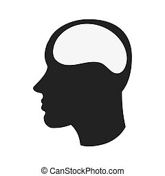 human brain in head icon