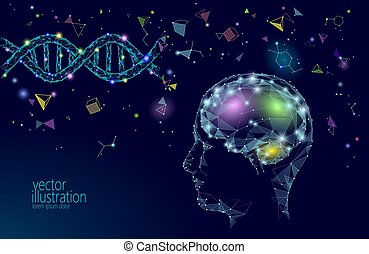 Human brain IQ smart business concept. E-learning nootropic...
