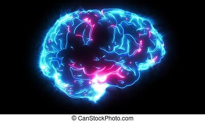human brain laser animation video