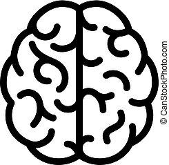 Human brain linear icon