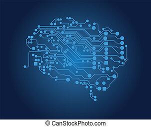 Human brain, logical thinking, vector