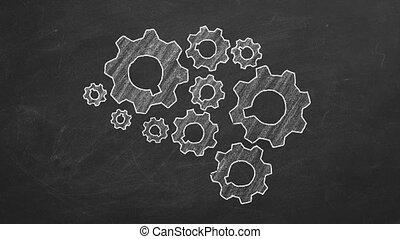Human brain made of gears