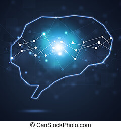 Human Brain Shape Business Concept Background