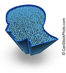 Human brain symbol - Human brain and intelligence puzzle ...