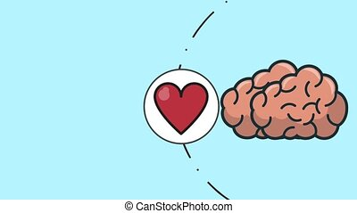 Human brain thiking in love and money HD animation - Human...