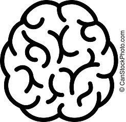 Human brain vector icon